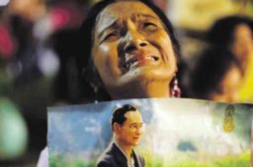 Article : Mort du Roi de Thaïlande : pourquoi tant de pleurs ?